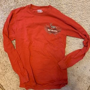 Men's Long Sleeve Columbia Shirt -Red